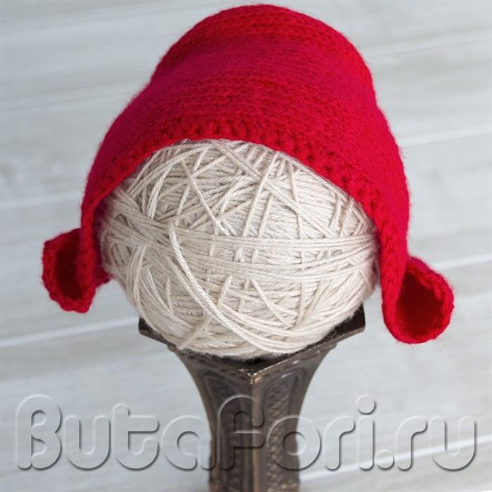 Чепец красной шапочки для новорожденной