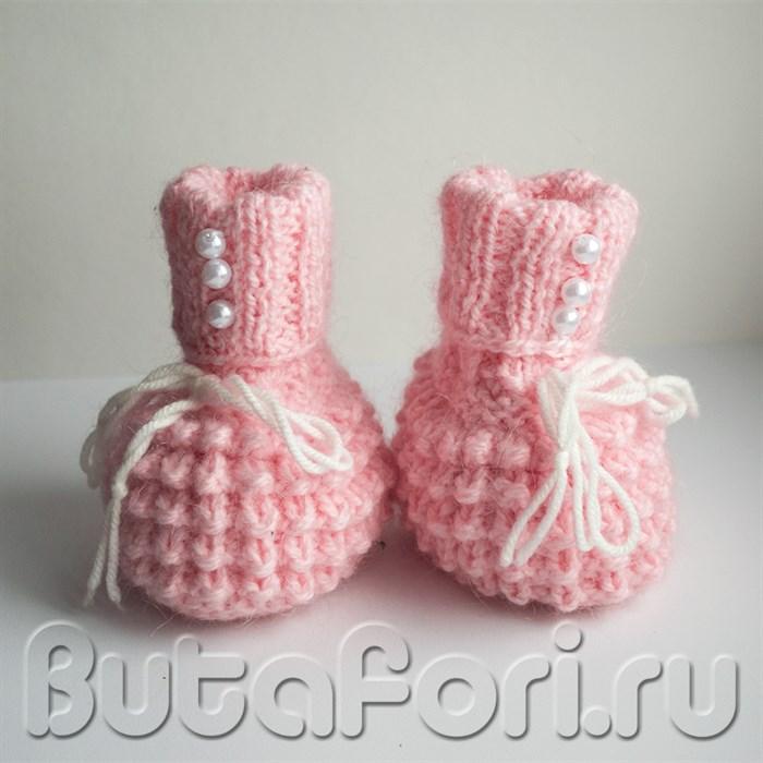 Розовые пинетки для девочки