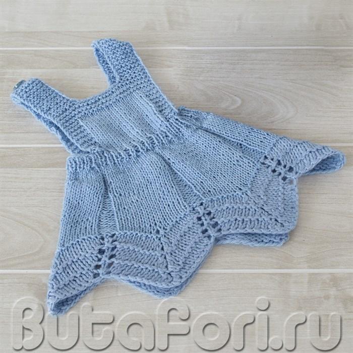 Вязаное платье Дюймовочки