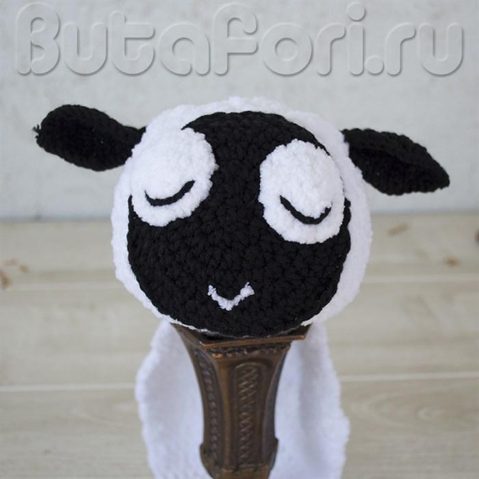 Вязаный костюмчик овечки для новорожденного