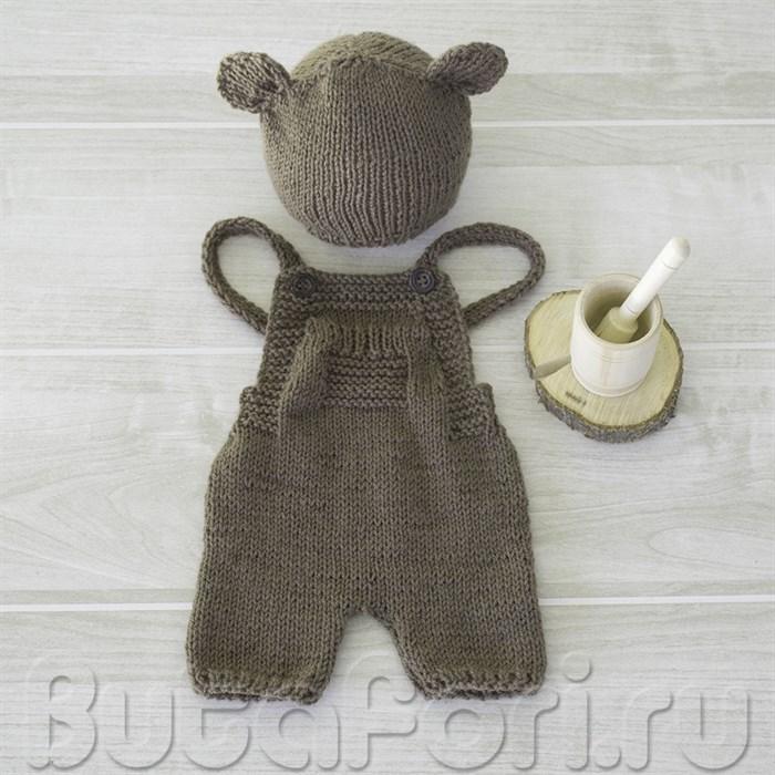 Комплект для фотосессии новорожденных Мишка-лакомка