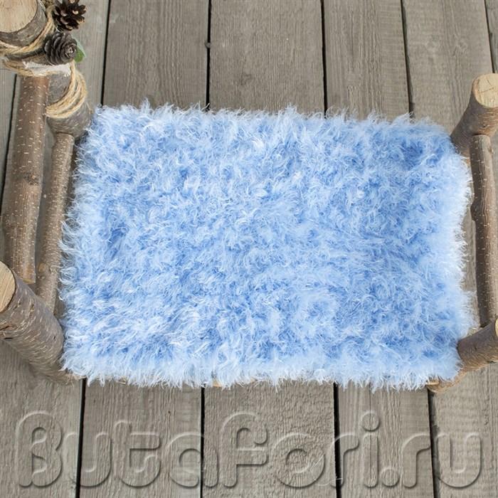 Голубой коврик для фотосессии новорожденных