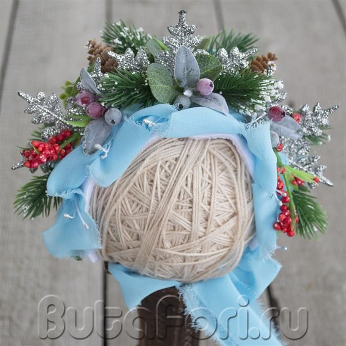 Цветочная шапочка для новогодней фотосессии