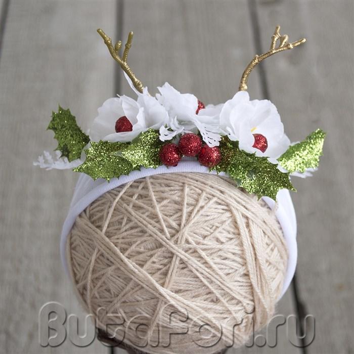 Рождественская повязочка Олененок