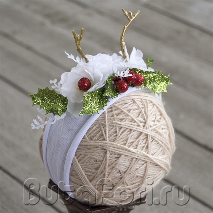 Новогодняя повязочка Олененок
