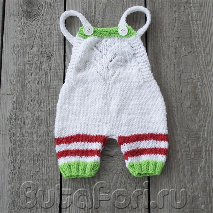Вязаный ромпер Эльфика для фотосессии новорожденного