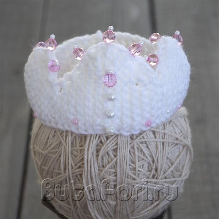 Белая корона для новорожденной