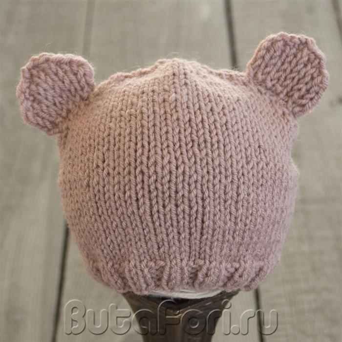 Вязаная шапочка шоколадный мишка