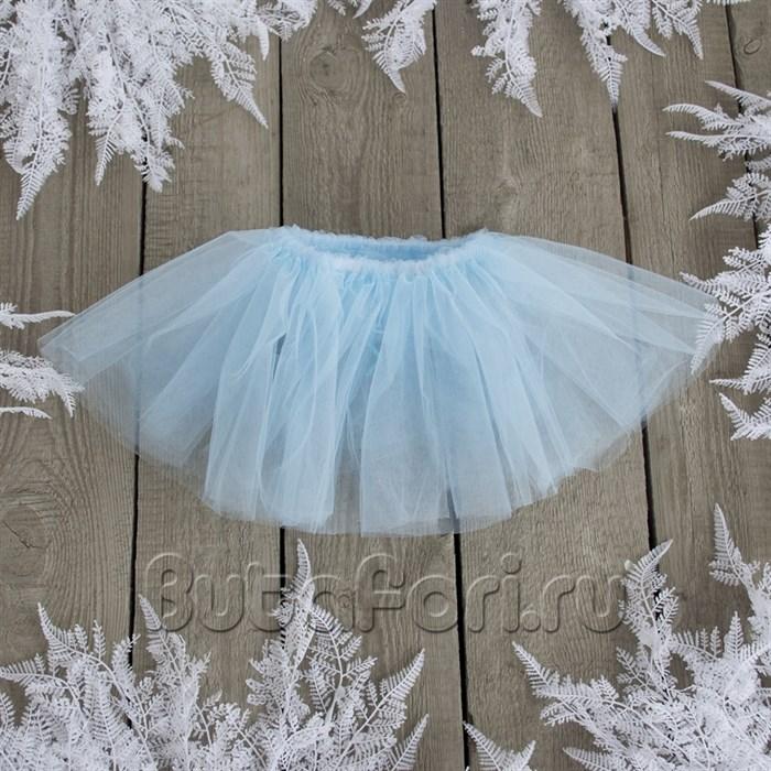 Голубая юбочка для фотосессии новорожденных