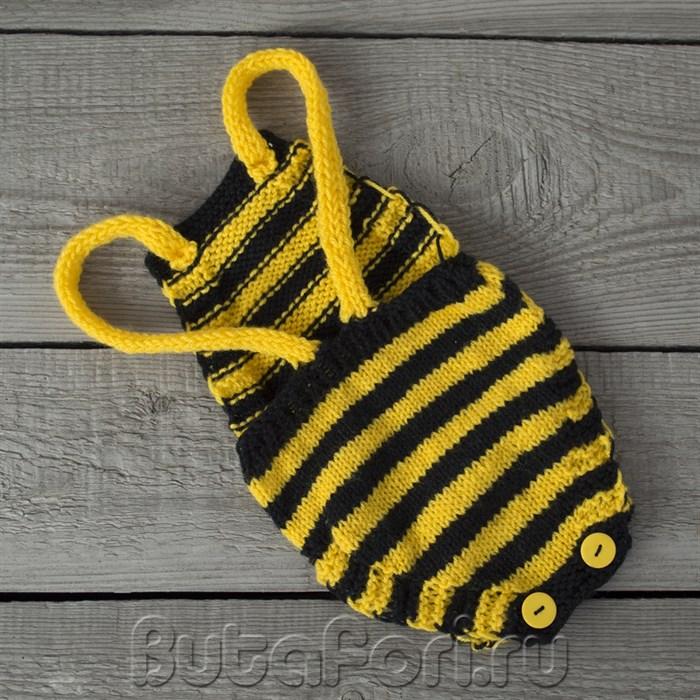 Ромпер для фотосессии новорожденных Пчёлка