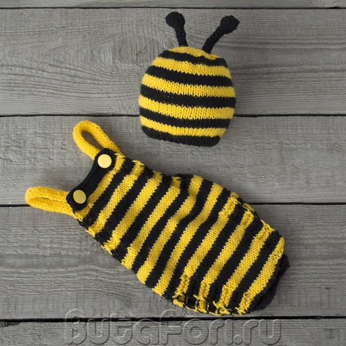 Вязаный костюмчик Пчелка