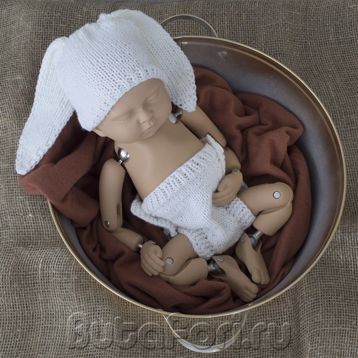 Тазик для фотосессии новорожденного