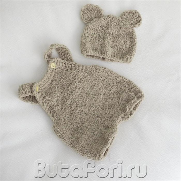 Вязаный костюмчик медвежонка