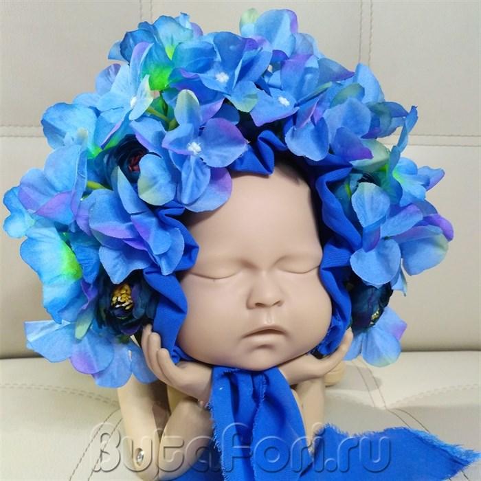 Цветочная шапочка Синяя гортензия