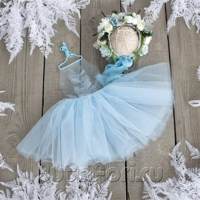 Комплект для фотосессии новорожденных Снежинка