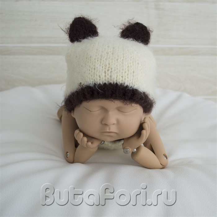 Вязаная шапочка Опоссума для новорожденного