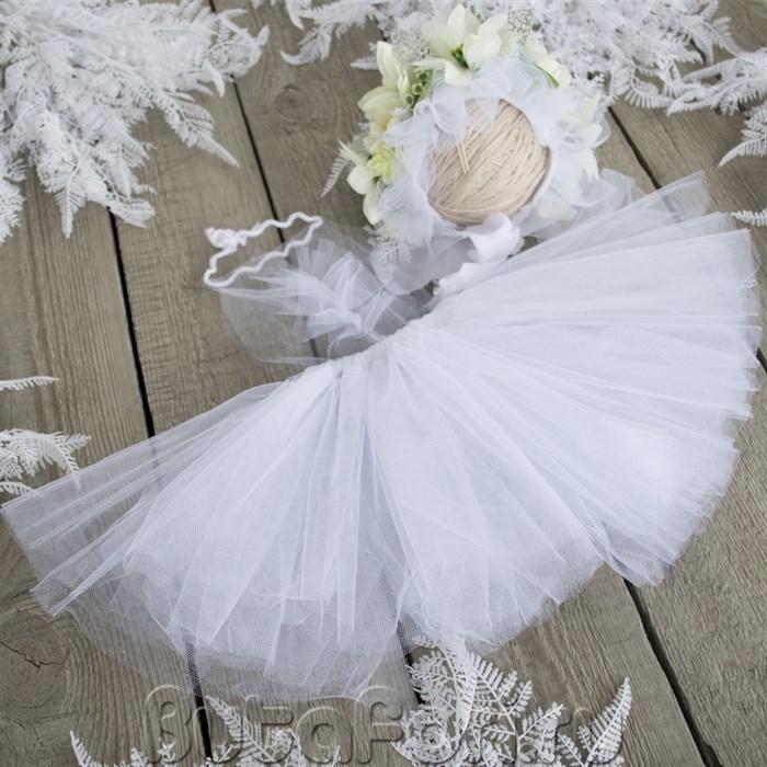 Снежный набор для фотосессии новорожденных