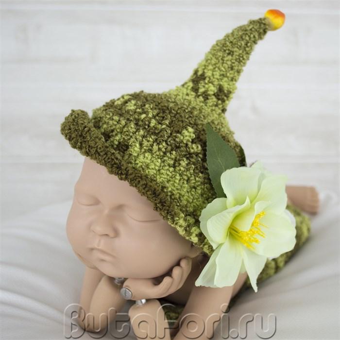 Шапочка лесного эльфика для фотосессии новорожденного