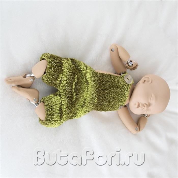 Зеленый ромпер для новорожденного