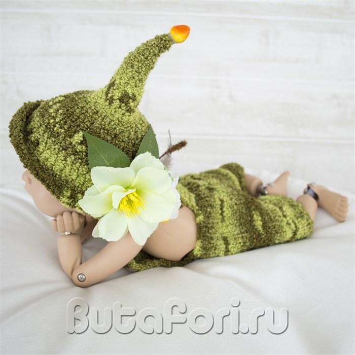 Вязаный костюмчик Эльфа для фотосессии новорожденного