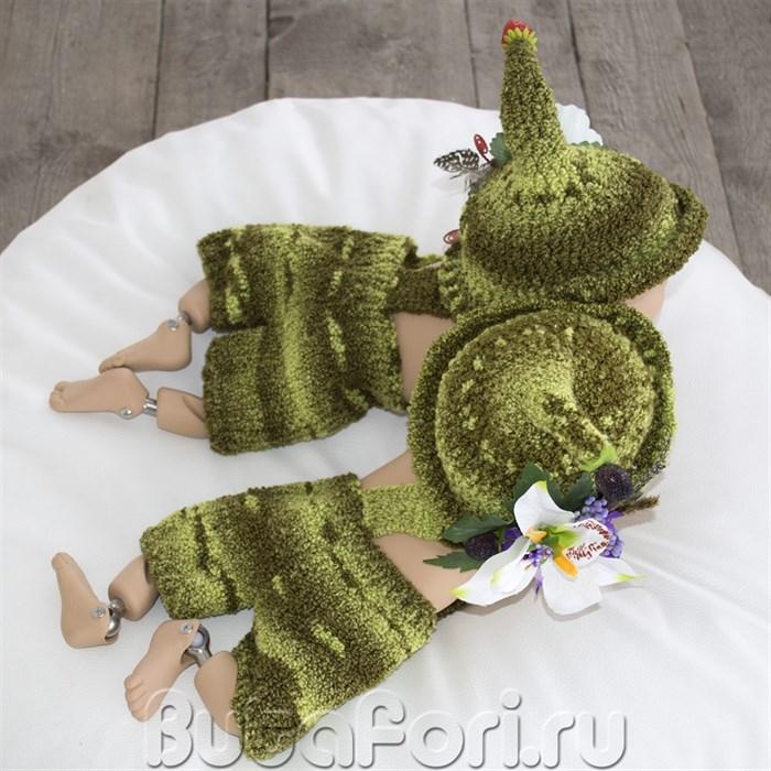 Вязаная одежда для фотосессии близнецов