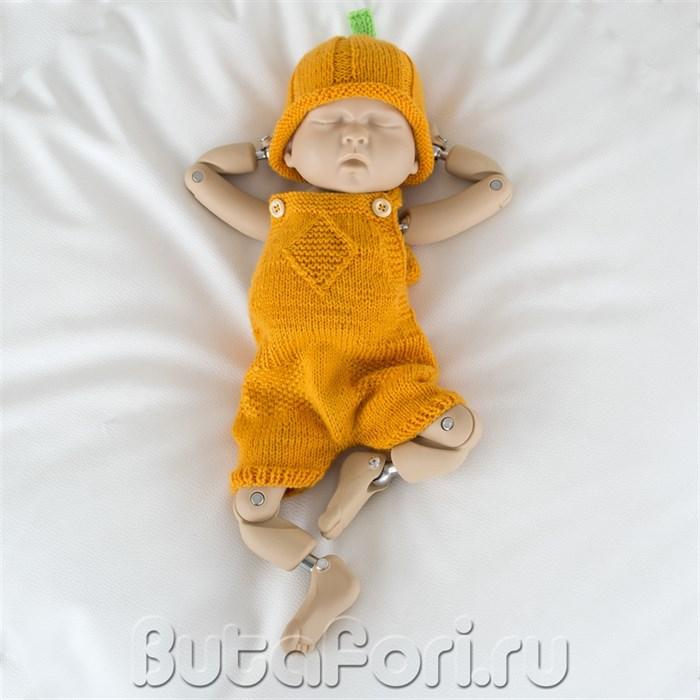 Вязаный костюмчик Тыковка для новорожденного