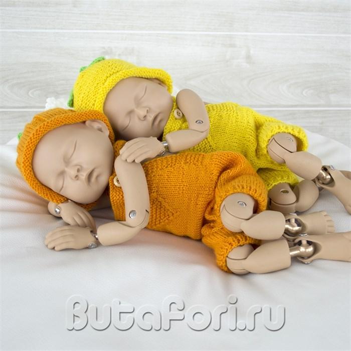 Костюмчики для фотосессии близнецов - Тыковка и Лимончик