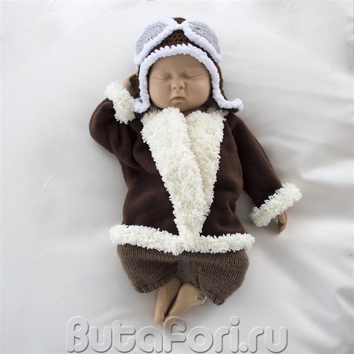 Костюм пилота для фотосессии новорожденных