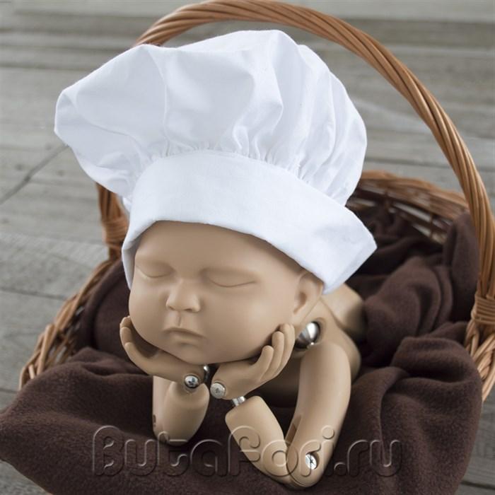 Одежда для фотосессии новорожденного - шапочка повара