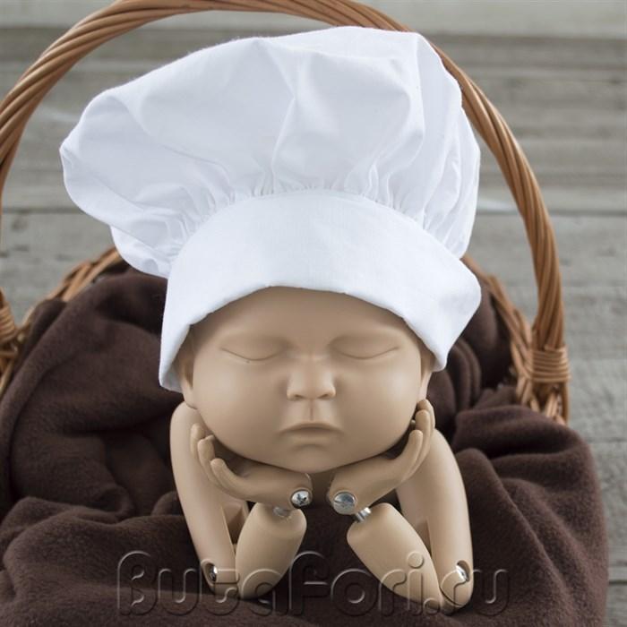 Шапочка повара для фотосессии новорожденного