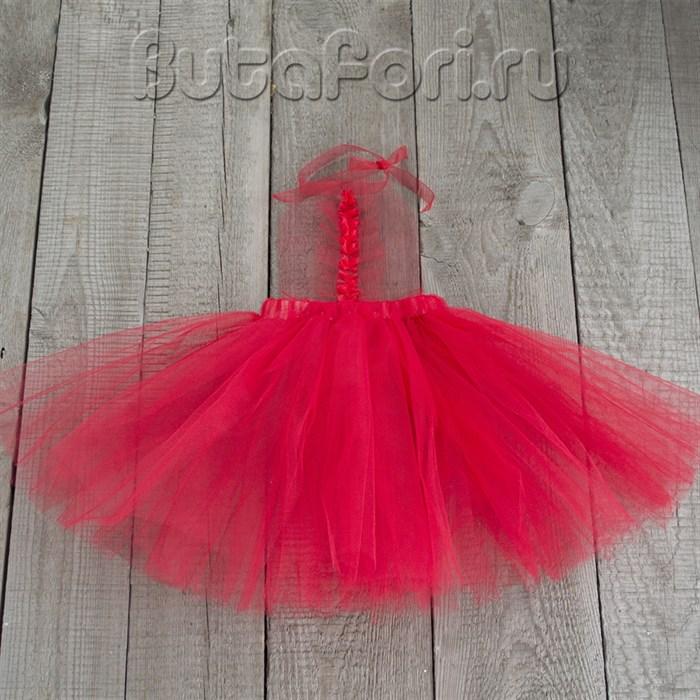 Красный сарафан из фатина для фотосессии