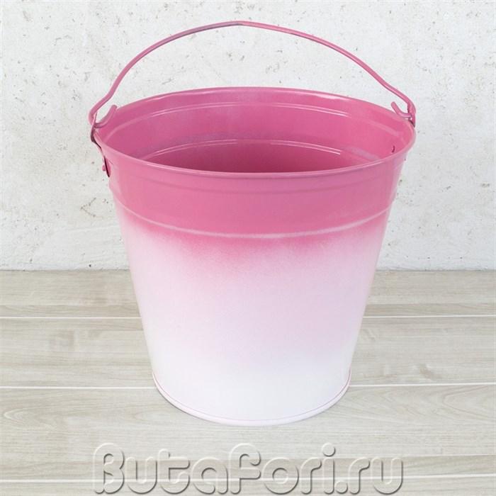 Ведерко розовое омбре для фотосессии