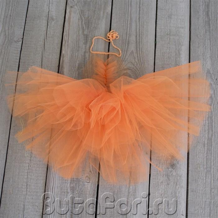 Оранжевый сарафан из фатина