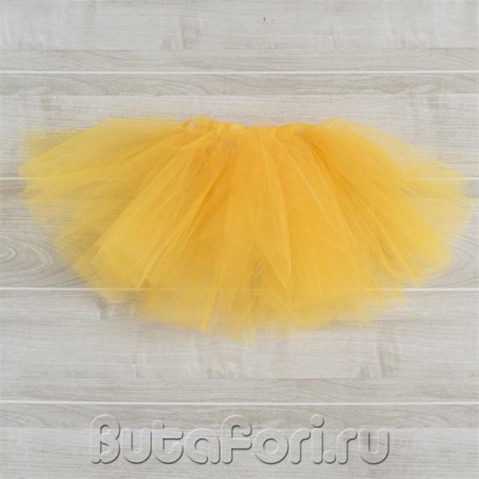 Желтая юбочка из фатина