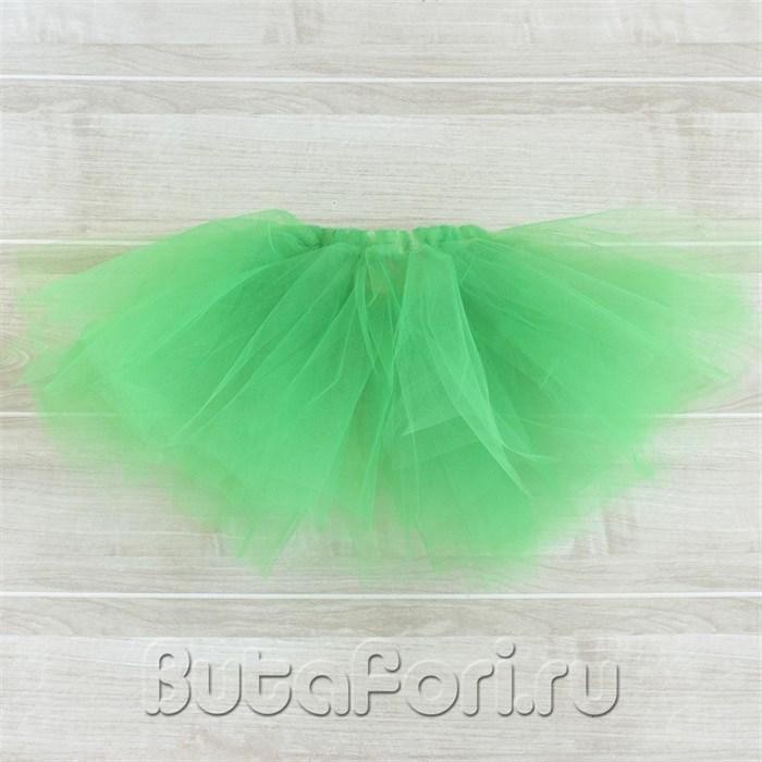 Зеленая юбочка из фатина