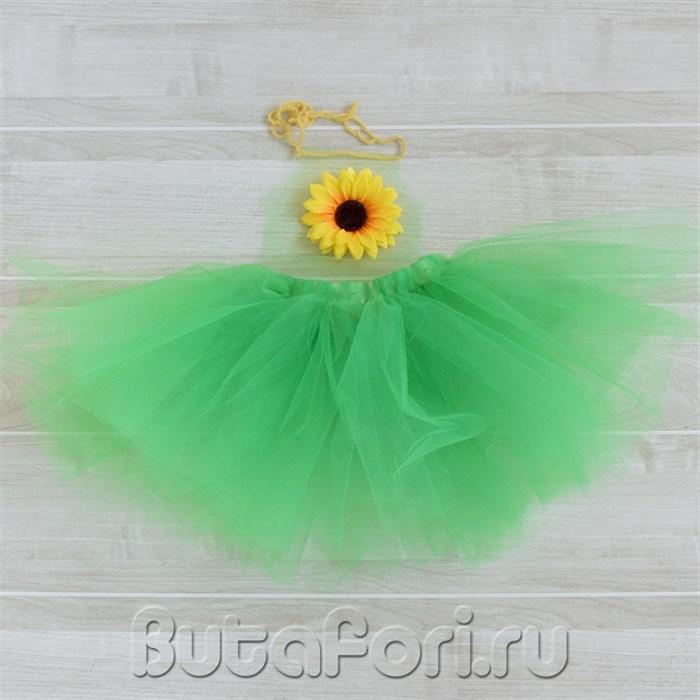 Зеленый сарафан для фотосессии новорожденной