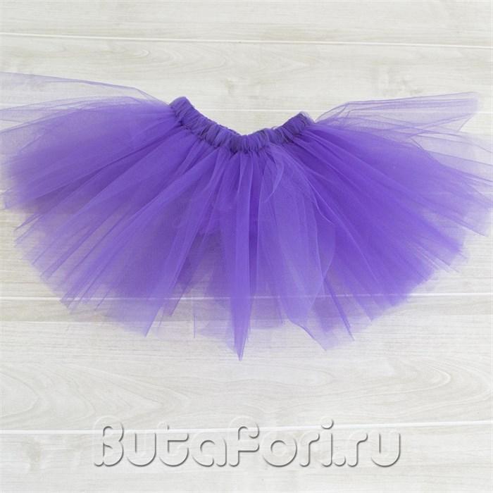 Фиолетовая юбочка из фатина для фотосессии новорожденных