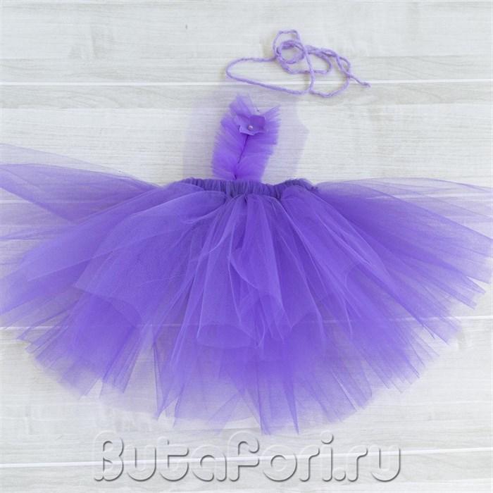 Фиолетовый сарафан для фотосессии новорожденной