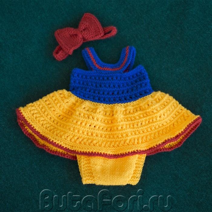 Платье для фотосессии новорожденной Белоснежка