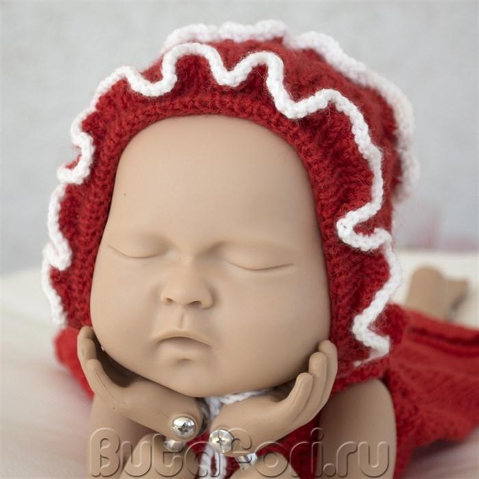 Вязаная шапочка для новорожденного