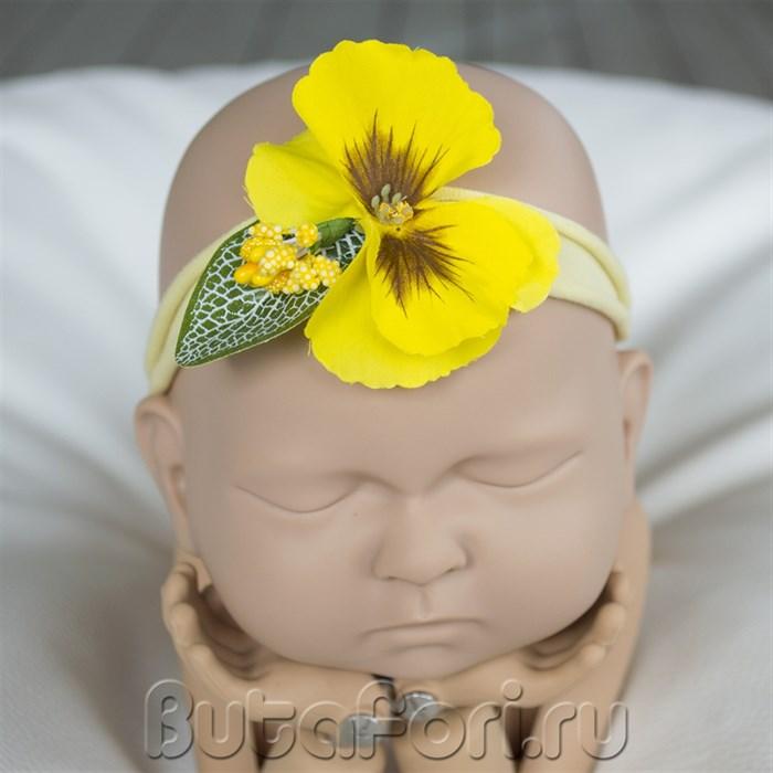 Повязочка Желтый цветочек
