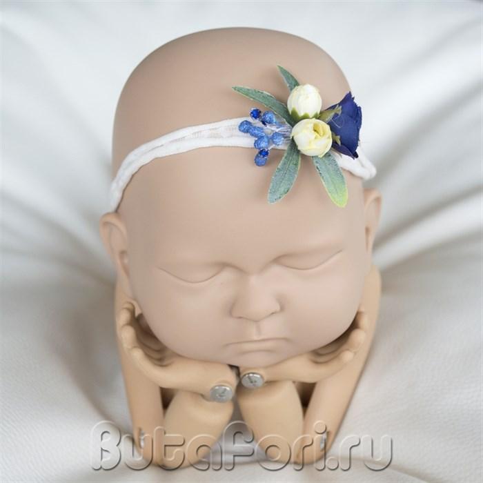 Повязочка на голову новорожденной - Стрекоза