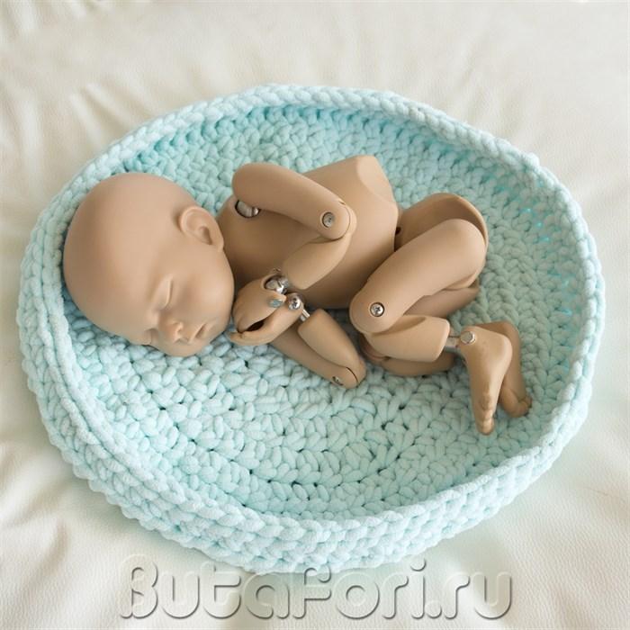 Вязаное гнездышко для фотосессии новорожденного