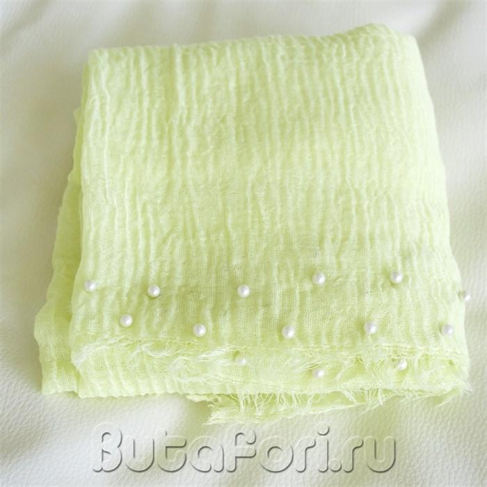 Лимонная обмотка с бусинами для фотосессии новорожденных