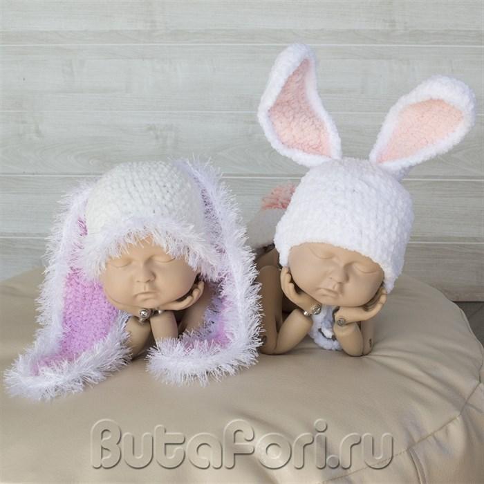 Шапочки кроликов для близнецов