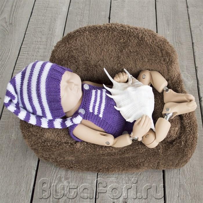 Полосатый костюмчик для фотосессии новорожденных
