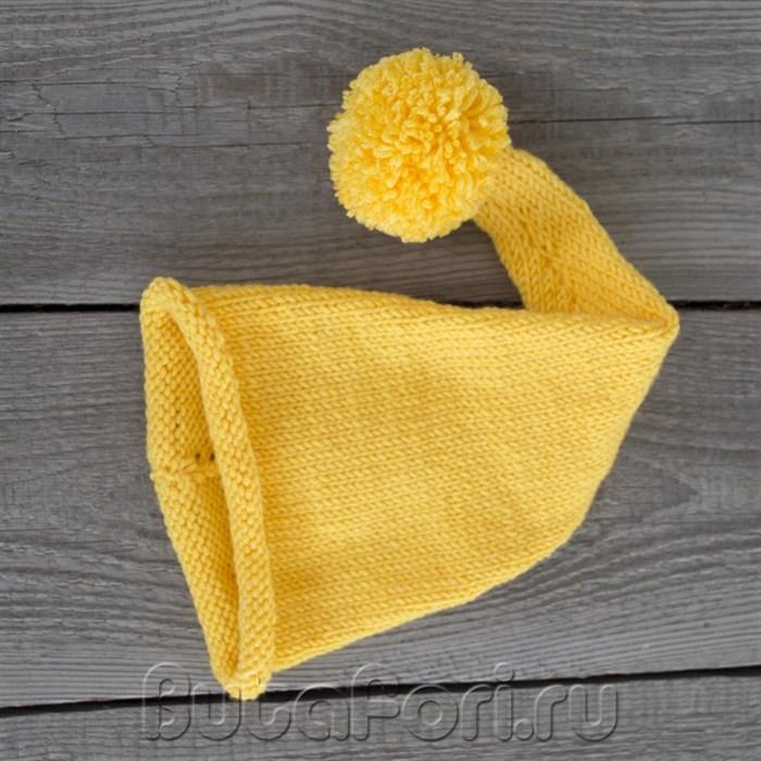 Аксессуар для фотосессии - желтая шапочка