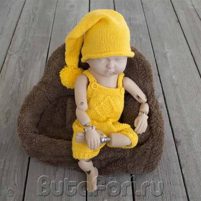 Желтый костюмчик для фотосессии новорожденного