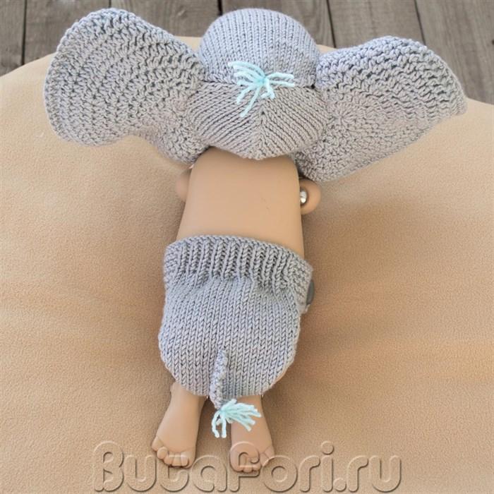 Вязаная шапочка с трусиками Слоненок