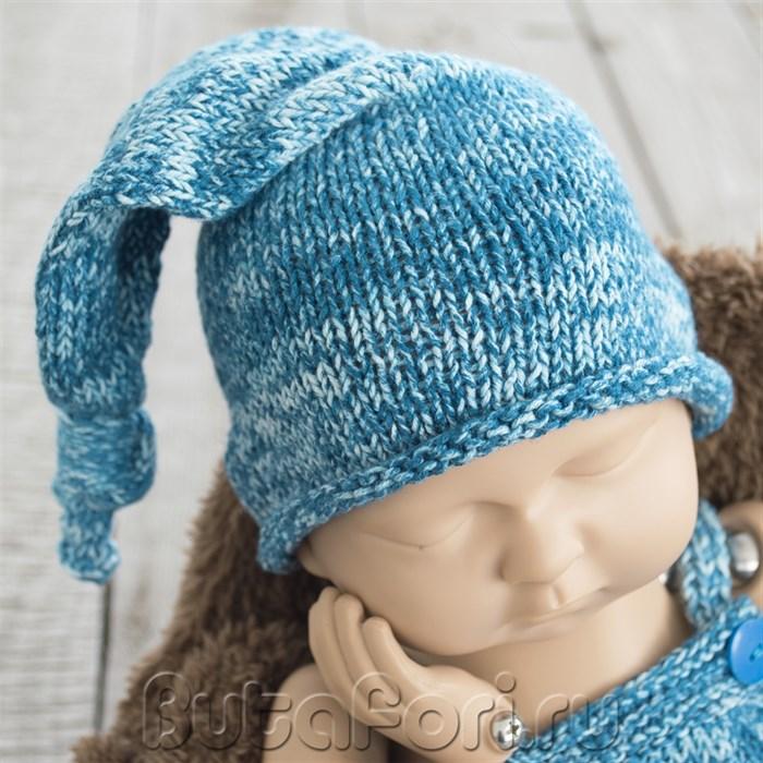 Вязаная шапочка - Джинсовый колпачок